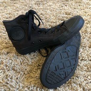 All Black Converse All Stars